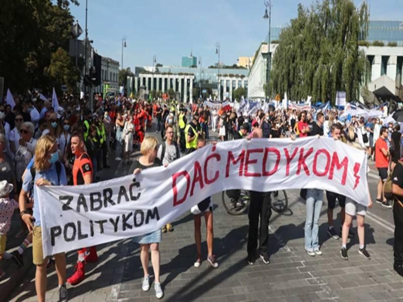 В Варшаве начался протест медиков